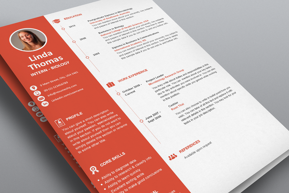 designer one page resume template flat 50 use